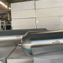 Airbft铝合金储气罐到货旋压成型杜绝焊接漏气的烦恼专业高压检测设备抽检