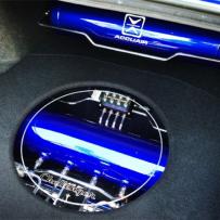 丰田锐志气动避震造型美化 优秀的设计 精美的施工 硬链接双打气泵双气罐