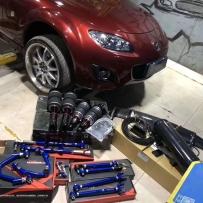 马自达MX5改装AIRBFT气动避震 沙卡拉卡 钻杆利器[强]