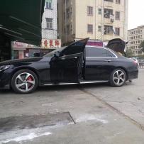 奔驰W213改装AIRBFT气动避震 退下商务外衣的魅力 群马车队