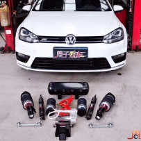 【AIRBFT】大众高尔夫7改装气动避震悬挂完美姿态 AIRBFT气压避震效果 周于烈车
