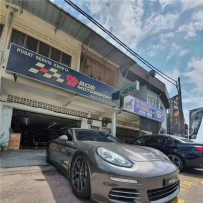 Porsche panamera改装气动避震悬挂 超跑的贴地姿态