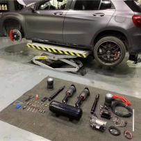 奔驰GLA改装 AIRBFT气动避震现场施工