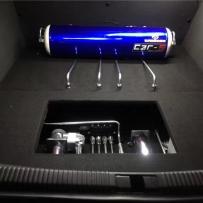 气动避震李洋分享:奥迪A6C6改装ACCUAIR气动避震后备箱造型案例及炫酷姿态
