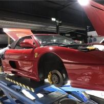 气压论坛李洋分享法拉利F430点名安装AIRBFT气动避震套件施工案例