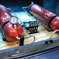 三菱翼神ACCUAIR气动避震后备箱造型案例