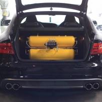 奥迪S5改装ACCUAIR气动避震后备箱案例