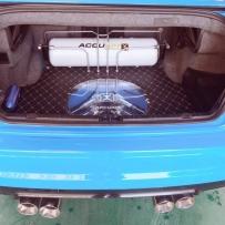 宝马E46安装ACCUAIR空气避震后备箱造型案例