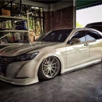 卡边的魅力 丰田皇冠改装ACCUAIR气动避震 完美展现HF风格魅力