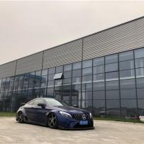 淞江集团AIRBFT气动避震李洋分享奔驰C级两门版本首选AIRBFT气动品牌改装施工细节