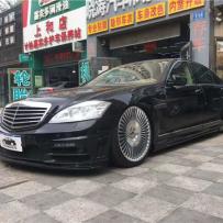 """""""心所向 驰以恒""""奔驰W221改装气动避震低趴效果案例"""