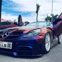 狼人车改:奔驰SLK200双座敞篷跑车改装气动避震首选AIRBFT台湾品牌功能配置介绍