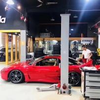 三菱3000GT升级SF-Racing黄金版避震+AIRBFT气动避震完工 安布雷拉作品