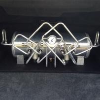 HF风格空气避震造型展示 空气避震造型作品展示 空气避震后备箱硬管连接 空气避震改装