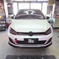 不可错过的低趴姿态醉人VW MK7改装气动避震低趴范儿