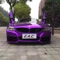 骚紫宝马Z4 E85改装ACCUAIR空气避震 宝马Z4改装ACCUAIR气压避震