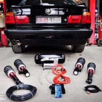 施工过程:宝马E34改装AIRBFT气动避震 感谢店家周于烈车反馈提供