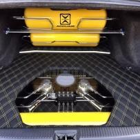 丰田皇冠改装ACCUAIR气动避震造型 皇冠改装ACCUAIR后备箱硬链接造型 皇冠改装气动造型