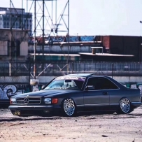 奔驰W126气动避震改装