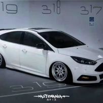 Ford福克斯改装气动避震空气悬挂 彻底爱上低姿态