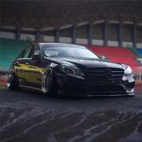 黑煞新款奔驰E级W213气压避震器改装案例!HF风格带来独有的魅力!